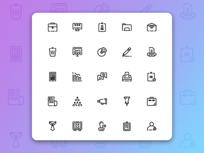Business & Management Icons ux ui iconography icon set icon pack management business symbol design symbol button