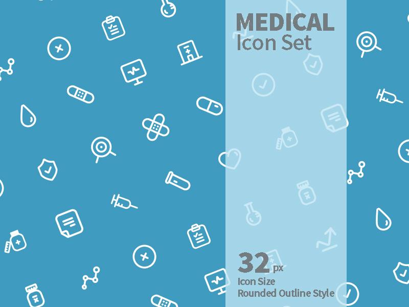 Medical Icon Set ux ui system medical symbol sign icon set iconography icon a day icon