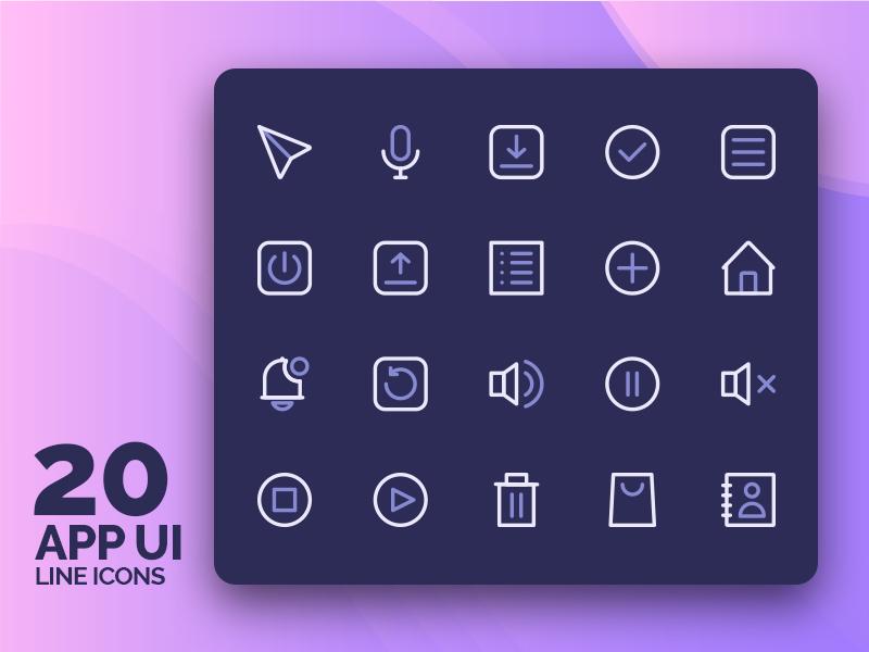 App User Interfaces Icons app ui design app ui logo design design system logo illustration symbol icon set iconography ux ui icon