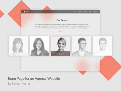 Team Page for an Agency Website