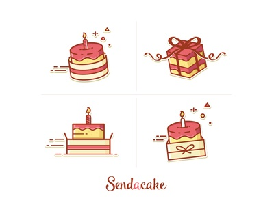 Cake delivery icons