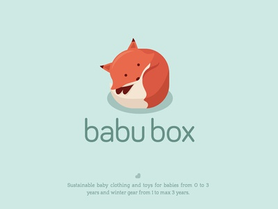 Cute fox logo for a baby clothing store