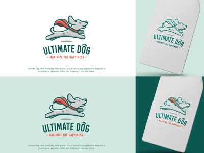 Ultimate Dog logo colorful logo design superhero dog brand identity playful logo fun logo pet logo dog logo