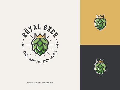 Logo for a beer game (app) simple design vintage inspired game design brewery logo smart logo modern logo design icon design colorful logo beer beer logo