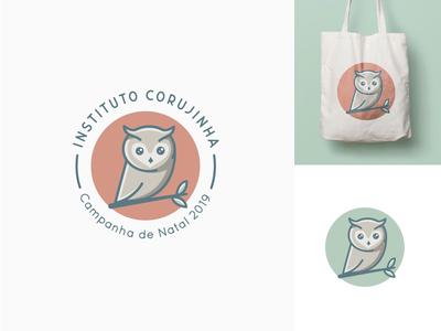 Cute owl logo for a charity organization freelance vormgever utrecht simple logo charity owl owl logo mascot logos cute logo freelance logo designer charity logo