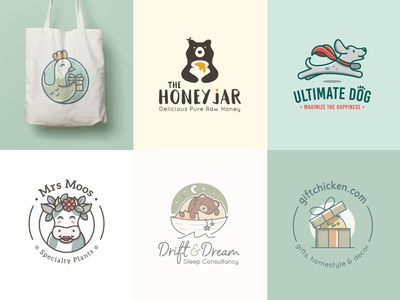 Cute logos 2019 (so far) playful mascot bear logo chicken logo cow logo dog logo pet logo animal logos dutch freelancer fun logo animal mascots cute logos