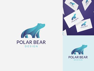 Polar Bear Design logo designer bright colors gradient logo technology logo bear logo polar bear