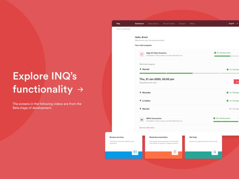 Functionality  |  INQ  |  Enterprise Network Management Platform product design lists cards dashboard ui dashboard minimal flat uidesign design app web ux ui