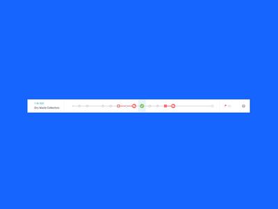 Waste Management Platform app lists dropdown cards interface web product design ux uiux ui interaction