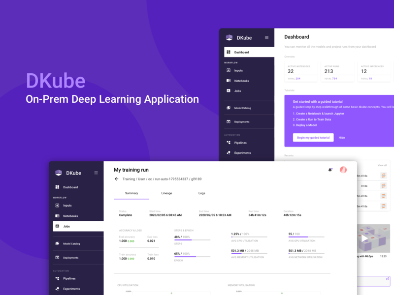 Deep learning Application machine learning deep learning dashboard lists cards design dropdown app web ux ui product design