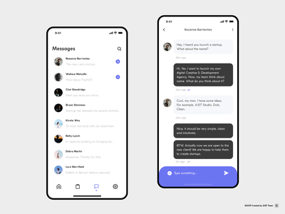 Chat app violet ui ux chat app chat bot app typography chatbot chatting chat text design