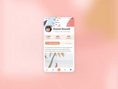 User profile branding dailyui design app app design userinterface