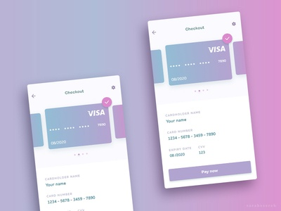 Checkout. Daily UI:002 gradiant mobile checkout vector cute mermaid app mobile visa form checkout ux ui daily ui daily ui 002