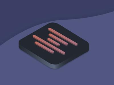Icon for music art logo illustrator app minimal illustration icon flat vector design