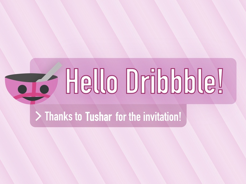 Hello Dribbble! welcome shot welcome dribbble ball hello dribble dribbble hello dribbble hello illustrator clean vector minimal illustration flat dry-soup dry soup drysoup dry design aaron