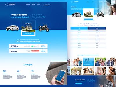 Conquer Consórcios  WebSite - UI ui design design interface website ux ui