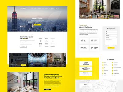 Venueo Agency Web Site - UI website ux interface ui design nyc agency booking
