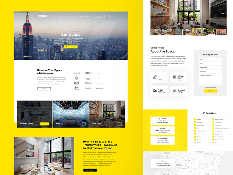 Venueo Agency Web Site - UI