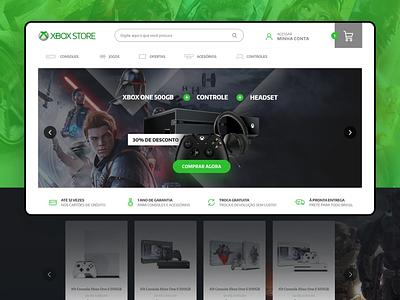 XboxStore Website - Ecommerce website interface ecommerce design uxdesign uidesign xbox microsoft