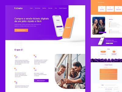 Ticketo - Landing Page ux design ui design design tickets ux website ui interface