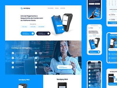 SendPay - LandingPage ux design ui design payment send money uidesign landing page website interface ux uiux ui pay send