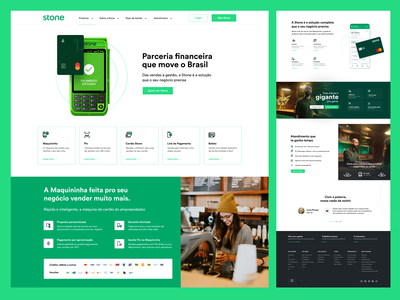 Stone -  Concept stone landing page credit card ux design pay uidesign design website ux ui interface