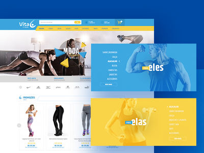Vita C Fitness interface website ux ui ecommerce clothes gym