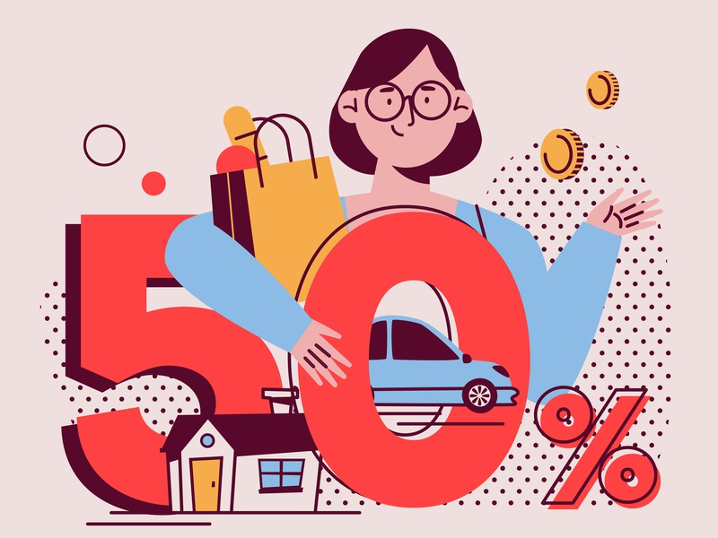 Cost flat charachters illustration vector design