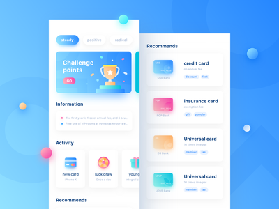 Finance App Design Project ux ui data bank pay chart graphics dashboard finance icon card colorful blue clean interface llustration banner app