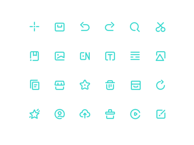 Tool icon by Misha format upload personal animation refresh delete collection market graphical written words english album book shear enlarge revoke tool add to green icon