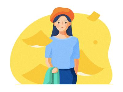 Misha's  girl 2 file hat lady illustration character portrait work girl