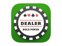Bold Poker iOS7 App Icon