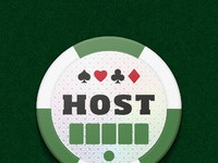 Bold poker host button