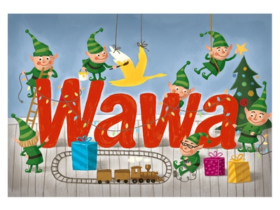 Wawa Christmas Gift Card by Elliott Park - Dribbble