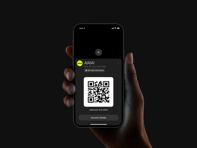 Timer/Ticket exploration scanning scan ios 13 bottom sheet voucher design qrcode productdesign uxui airbnb lottiefiles animation