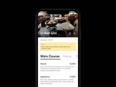 Restaurant & Lunch Guide App lunchguide ios ux-ui redesign