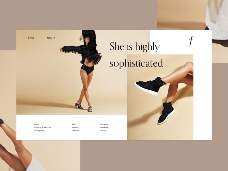 Landing Page SS19 shop store photoshoot ecommerce web design website homepage ui design fashion landing page