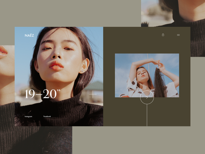Naëz Landing Page website concept website adobe xd homepage ui ux ecommerce concept branding shop store landing page fashion ui design