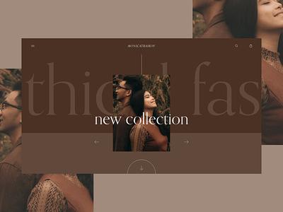 Traikov fashion product hero section web design ui ux adobe xd website web design store shop ecommerce homepage landing page concept ui design