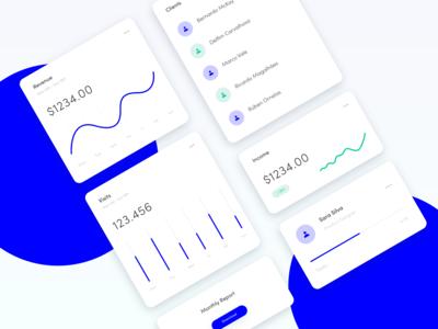 Web App Analytics Cards