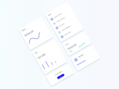 Animated Analytics Dashboard Cards