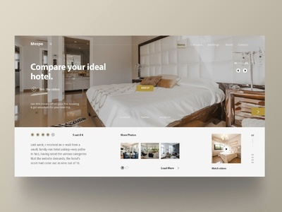 Hotel website concept white ux interface user exploration webdesigner material interaction grid design fluent cleanui