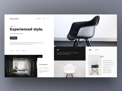 Minimalistic Furniture Web