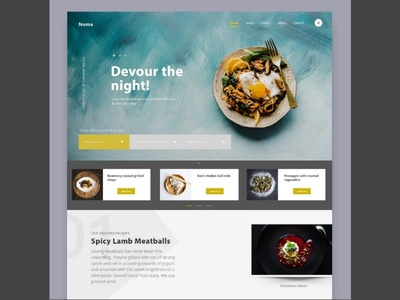 Food ordering web concept