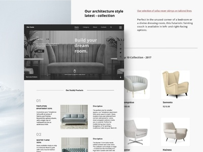 Furniture web concept
