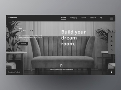 Landing page of Furniture web