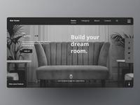 Landing page of Furniture web