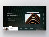 Architectural firm landing page