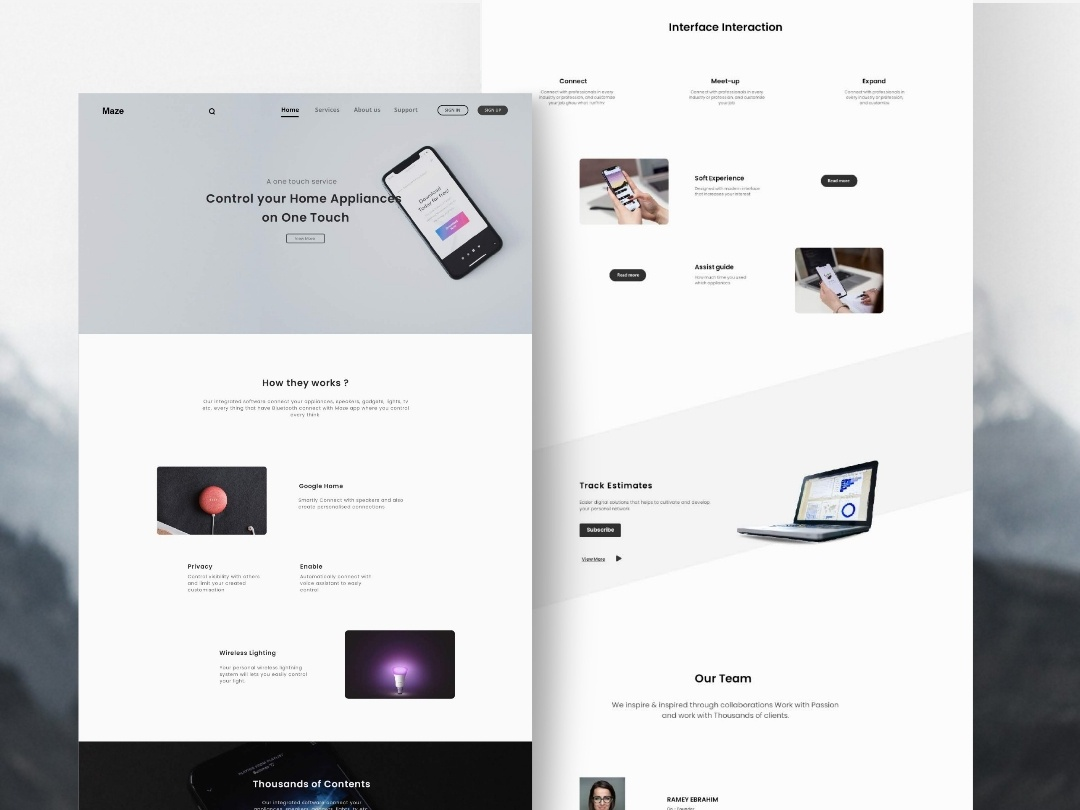 Smart Home - Web Interface animation web app vector illustration logo ui interaction user webdesigner ux white design fluent exploration cleanui interface trend 2020 2019