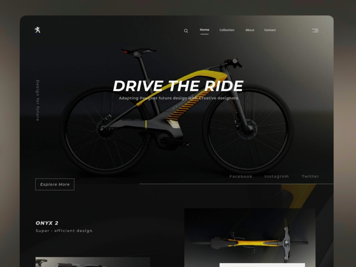 Peugeot Design lab : Redesign web concept app minimal website flat web typography trend ui animation webdesigner grid white ux user interface interaction fluent exploration design cleanui